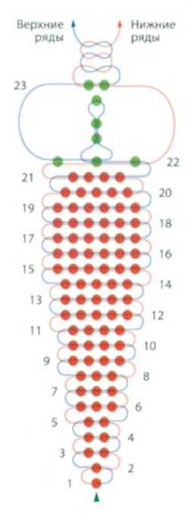 Перец из бисера схема