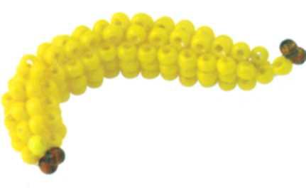 Схема банана из бисера
