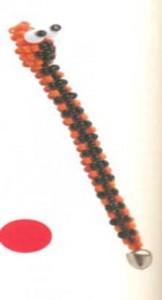 Змейка из бисера