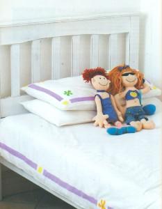 Раскрашенное постельное белье