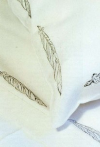 Постельное белье с штампованным рисунком