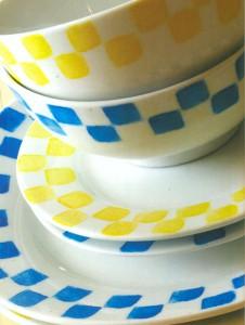 Посуда, украшенная рисунком