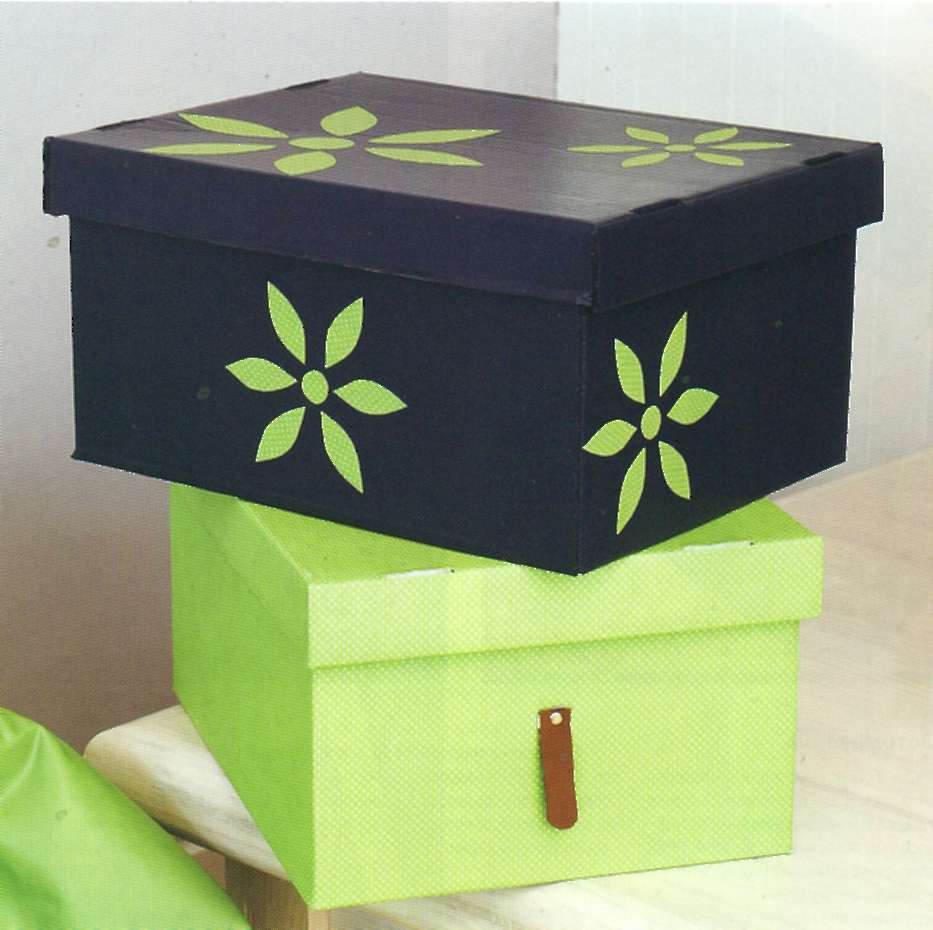 Украшаем коробки для хранения своими руками 5