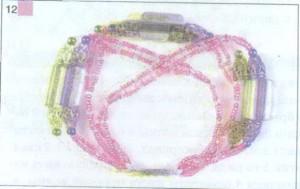 Браслет из бисера Розовый фламинго фото