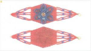 Браслет из бисера Волшебный цветок фото