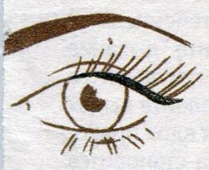 Рисуем стрелки на глазах фото